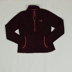 The North Face Regular M Red   1/4 de Zip Sweater